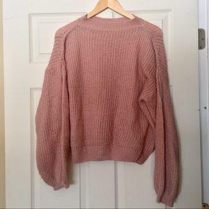 Tops - Dusty Pink Bell Sleeve Sweatshirt